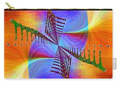Carry-all Pouch featuring the digital art Abstract Cubed 372 by Tim Allen
