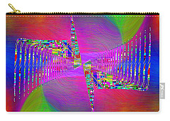 Carry-all Pouch featuring the digital art Abstract Cubed 373 by Tim Allen