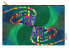 Carry-all Pouch featuring the digital art Abstract Cubed 374 by Tim Allen