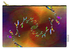 Carry-all Pouch featuring the digital art Abstract Cubed 375 by Tim Allen
