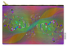 Carry-all Pouch featuring the digital art Abstract Cubed 376 by Tim Allen