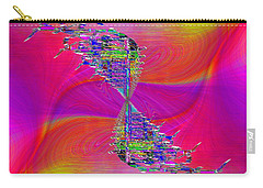 Carry-all Pouch featuring the digital art Abstract Cubed 377 by Tim Allen