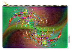Carry-all Pouch featuring the digital art Abstract Cubed 379 by Tim Allen