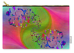 Carry-all Pouch featuring the digital art Abstract Cubed 381 by Tim Allen