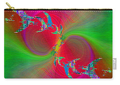 Carry-all Pouch featuring the digital art Abstract Cubed 383 by Tim Allen