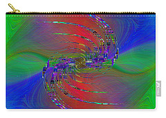 Carry-all Pouch featuring the digital art Abstract Cubed 384 by Tim Allen