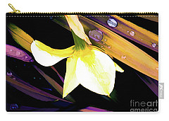 Abstract Daffodil And Droplets Carry-all Pouch