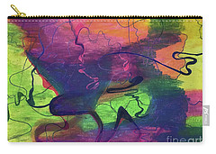 Colorful Abstract Cloud Swirling Lines Carry-all Pouch