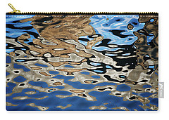 Abstract Dock Reflections I Color Carry-all Pouch