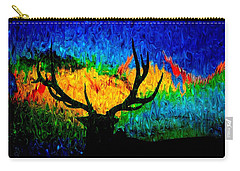 Abstract Elk Scenic View Carry-all Pouch