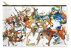 Carry-all Pouch featuring the painting Abstract Expressionism Painting Series 1041.050812 by Kris Haas