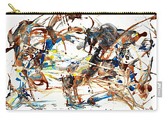 Carry-all Pouch featuring the painting Abstract Expressionism Painting Series 1042.050812 by Kris Haas