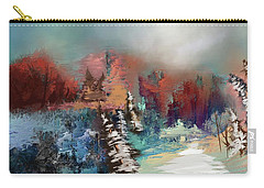 Abstract Fall Landscape Painting Carry-all Pouch