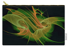 Carry-all Pouch featuring the digital art Abstract Ffz by Deborah Benoit