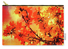 Abstract Forsythia Flowers Carry-all Pouch