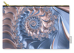 Abstract Fractal Art Rose Quartz And Serenity  Carry-all Pouch