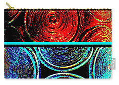 Carry-all Pouch featuring the digital art Abstract Fusion 275 by Will Borden