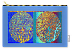 Carry-all Pouch featuring the digital art Abstract Fusion 276 by Will Borden