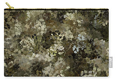 Carry-all Pouch featuring the mixed media Abstract Gold Black White 5 by Clare Bambers