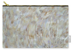 Carry-all Pouch featuring the mixed media Abstract Gold Cream Beige 6 by Clare Bambers