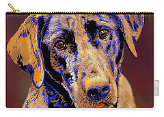 Abstract Golden Labrador Retriever Painting Carry-all Pouch
