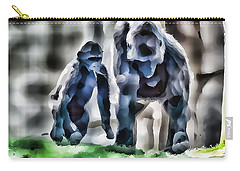 Abstract Gorilla Family Carry-all Pouch
