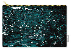 Abstract Green Reflections Carry-all Pouch by Gary Smith