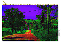 Abstract Highway Carry-all Pouch by David Stasiak