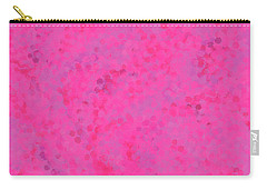Carry-all Pouch featuring the mixed media Abstract Hot Pink And Lilac 4 by Clare Bambers