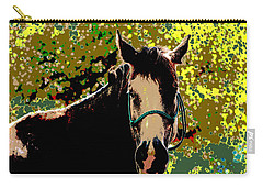 Abstract Image Of Horse Named Moon Carry-all Pouch