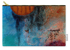 Abstract In Blue And Brown Carry-all Pouch