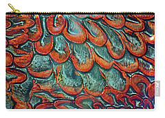 Abstract In Copper And Blue No. 7-1 Carry-all Pouch