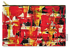 Abstract In Red, White And Yellow  Carry-all Pouch