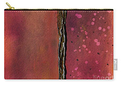 Carry-all Pouch featuring the painting Abstract In Rose And Copper by Desiree Paquette