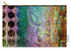 Carry-all Pouch featuring the painting Abstract In Teal And Plum by Desiree Paquette