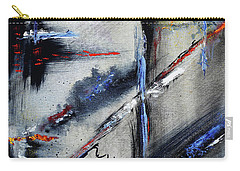 Carry-all Pouch featuring the painting Abstract by Karen Fleschler
