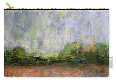 Carry-all Pouch featuring the painting Abstract Landscape #310 by Jim Whalen
