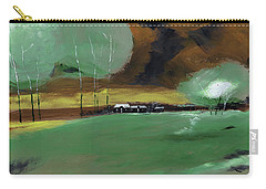 Carry-all Pouch featuring the painting Abstract Landscape by Anil Nene
