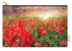 Abstract Landscape Of Red Poppies Carry-all Pouch