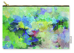 Carry-all Pouch featuring the painting Abstract Landscape Painting by Ayse Deniz