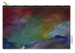 Abstract Landscape Red Bold Color Vertical Painting Carry-all Pouch