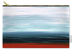 Carry-all Pouch featuring the painting Abstract Landscape - Ruby Lake - Sharon Cummings by Sharon Cummings
