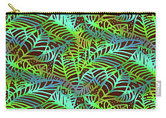 Abstract Leaves Chocolate  Shadows Carry-all Pouch