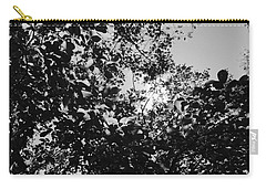 Carry-all Pouch featuring the photograph Abstract Leaves Sun Sky by Chriss Pagani