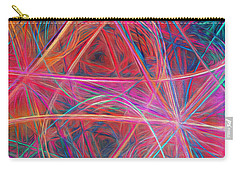 Carry-all Pouch featuring the digital art Abstract Light Show by Andee Design