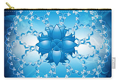 Abstract Lotus Flower Symbol Carry-all Pouch by Serena King