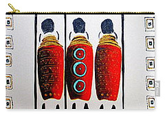Abstract Masai Warriors Carry-all Pouch