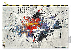 Abstract Melody Carry-all Pouch