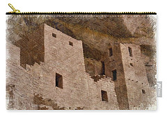 Carry-all Pouch featuring the photograph Abstract Mesa Verde by Debby Pueschel
