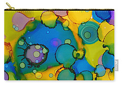 Carry-all Pouch featuring the painting Abstract Microscope Party by Nikki Marie Smith